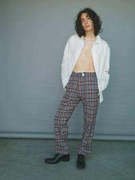 Marni Twill Drawstring Pajama Trouser - Red/Black Check