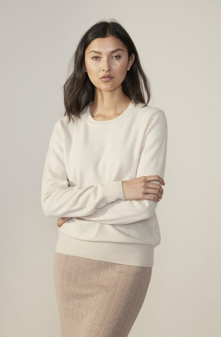 Laing Home The Essential Cashmere Crew sweater - Cream Marle