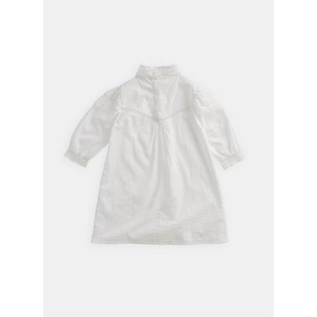 Kids Belle Enfant Joan Puff Sleeves Lace Dress - White