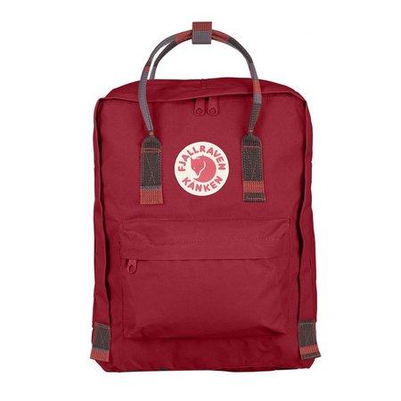 Fjallraven Kanken bag - Deep Red/Folk Pattern