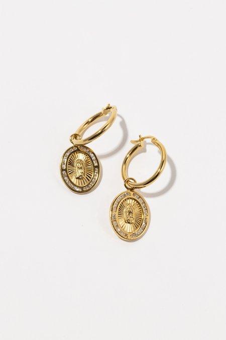 Tuza Jackpot Mary Earrings - Gold