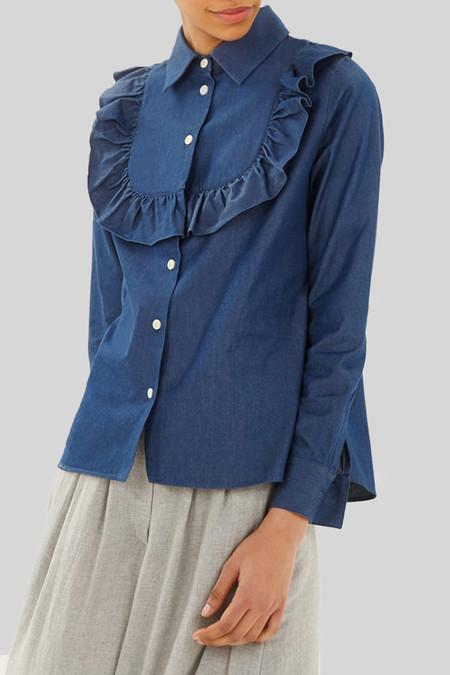 Kitsune Women's Denim Ella Jabot Blue