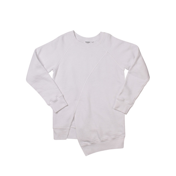 Kid's Mimobee Echo Park Split Front Sweat - White