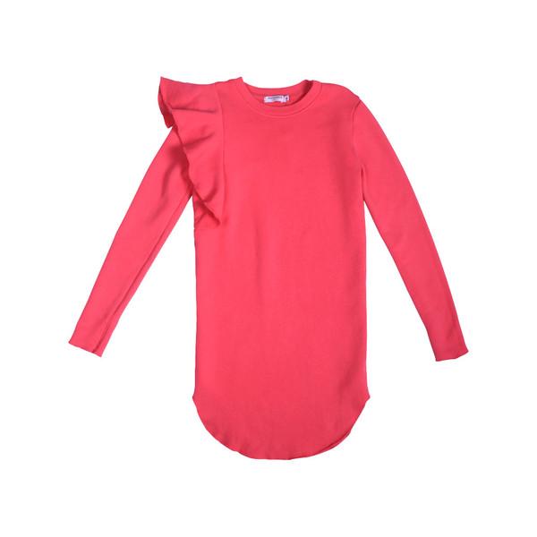 Kid's Mimobee Jetset Ruffle Dress - Berry Berry