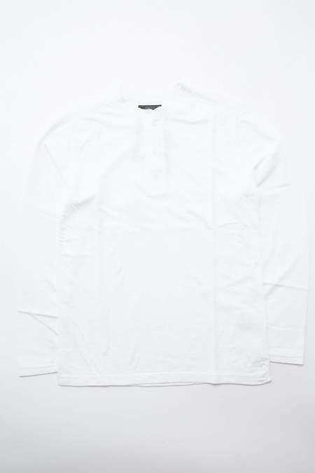 Beams Plus Henley Neck - Off White