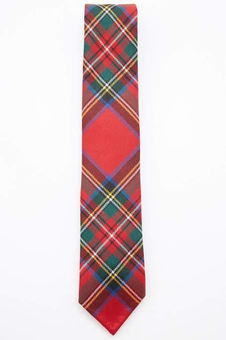 Beams Plus Wool Tartan Check Tie - Royal Stewart/Mackenzie