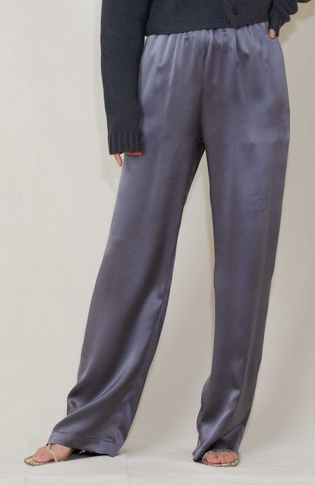 SABLYN Silk Elastic Waist Pant - Stone