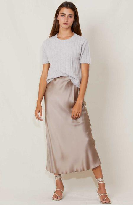 SABLYN Silk Skirt - Nutmeg