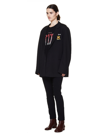 Doublet Cotton Embroidered T Shirt - Black