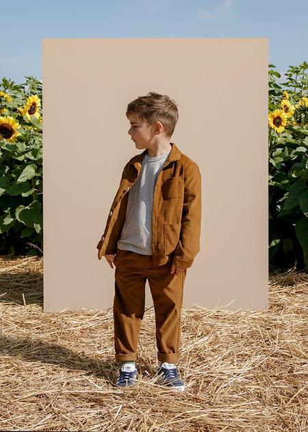 kids Petits Vilains Oscar Chore Shirt - Caramel