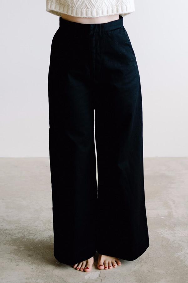Esby Apparel Alex Wide Leg Pant - Black