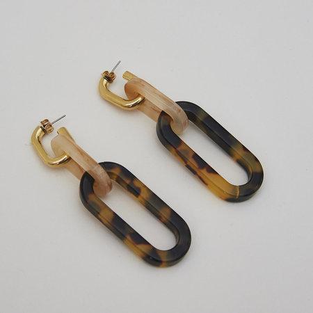 Rachel Comey Nesso Earrings - Tortoise/Gold