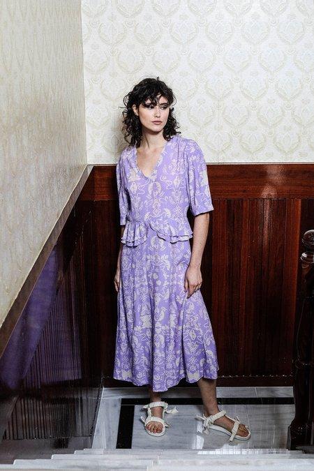 Salasai Audrey Dress - Wallpaper Lilac Print