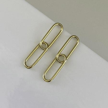 Merewif Agnes Studs - gold plated brass
