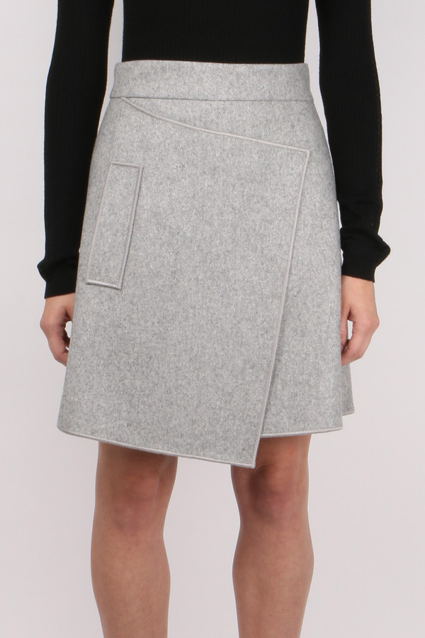 Carven Belted Wool Skirt