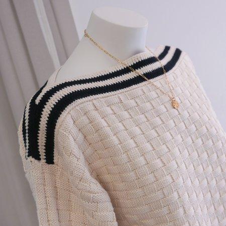 Rachel Comey Cress Sweater - Ecru Basketweave