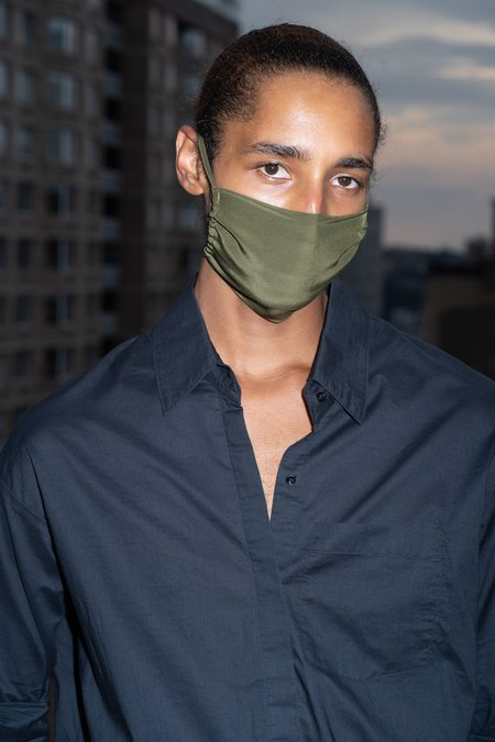 KES Sustainable Silk Washable Face Mask Pack - Military