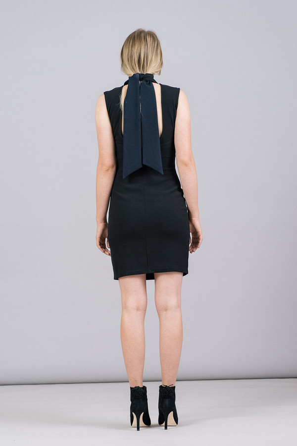Storm & Marie Samuel Sleeveless Mock-Neck Dress