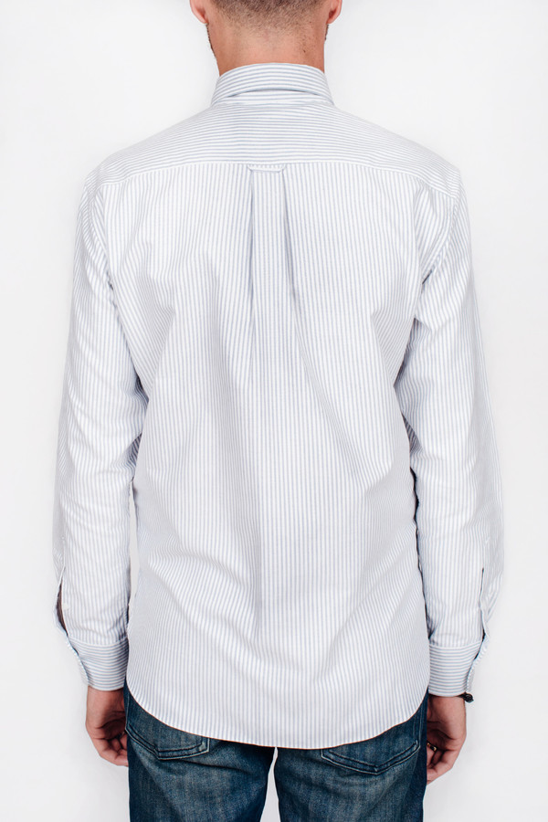 Men's Maison Kitsune Oxford Striped Classic Shirt