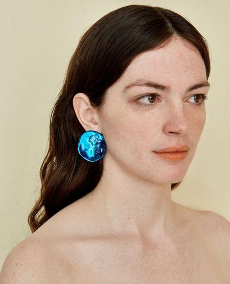 JULIE THÉVENOT Medusa Earrings - Blue