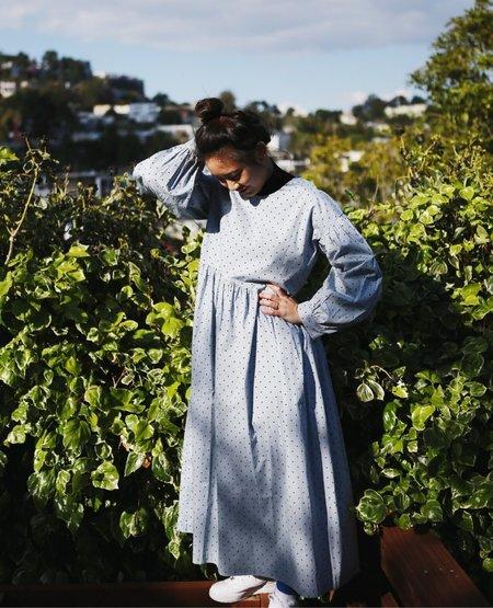 TIGRE ET TIGRE Jayme Dress - Polka Dot Baby Blue x Black Dot
