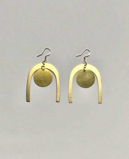 WE COME IN PEACE Peace Earrings - Brass