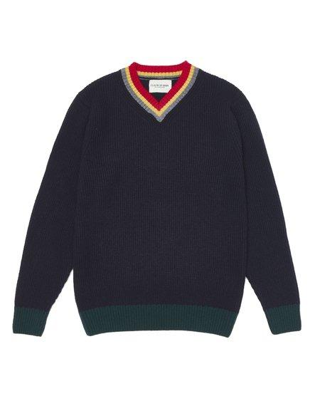Country of Origin College VEE sweater - Navy
