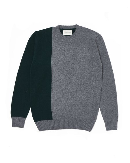 Country of Origin Split Crew sweater - Green
