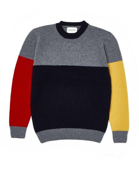 Country of Origin Tri-Half Crew sweater - Grey