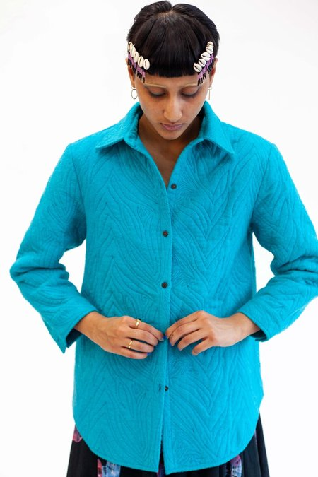 Abacaxi Reversible Quilted Button down