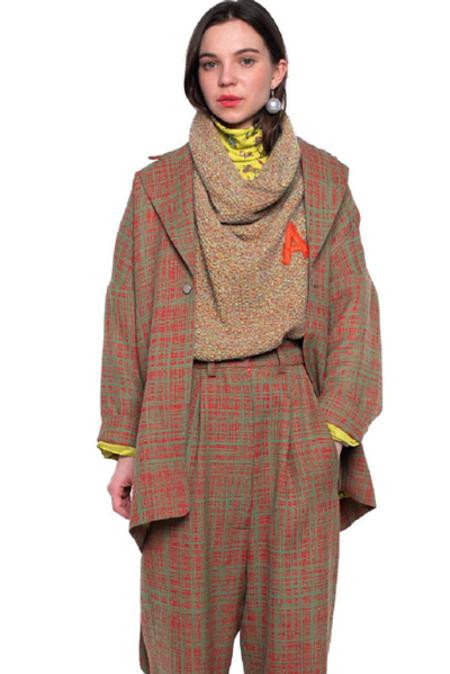 Anntian Jacket Binder - Red Green Weave