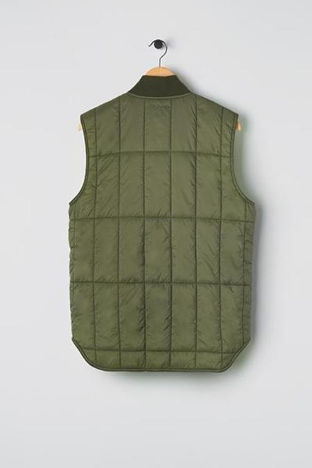 M.C.Overalls Padded Zip Vest - Olive