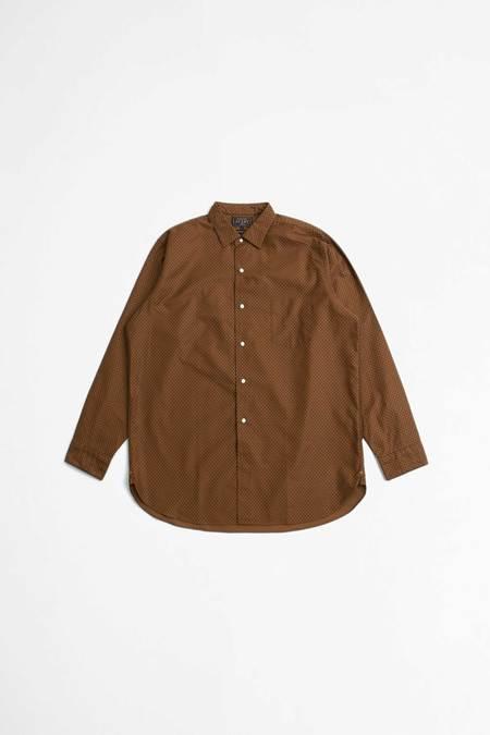 Beams Plus Moleskin Geometric Print Shirt - Brown