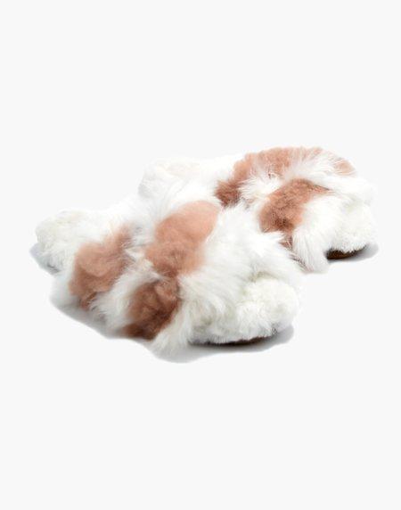 Ariana Bohling Sophie Alpaca Slipper - White/Blush