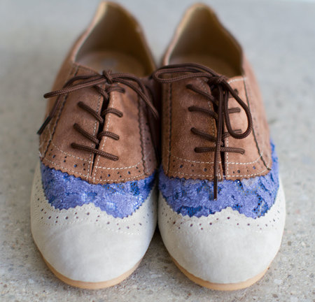 Kulkith Jersey Lacey Laced Oxford Shoes