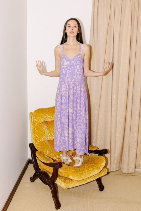 Salasai Selma Dress - Wallpaper Lilac Print