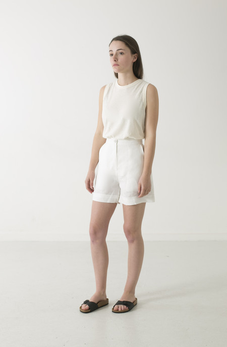 GOOD STUDIOS WOMENS HEMP LINEN HIGH WAIST SHORTS