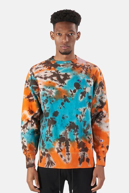 Blue&Cream x Champion Crewneck Sweater - tie dye