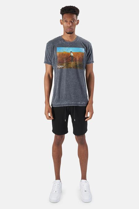 Kinetix x Blue&Cream New Fields Graphic T-Shirt - Charcoal