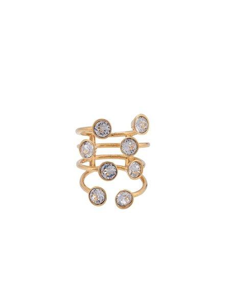 Mugler Embellished Ring - Gold Plated
