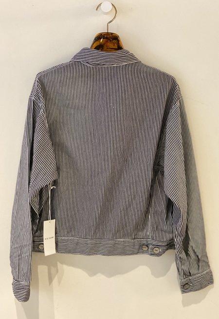 R.G. Kane Crop Shirt Jacket - Cream Stripe