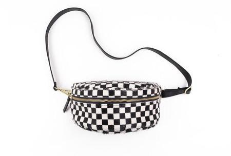 Primecut Checkered Bum Bag - black/white