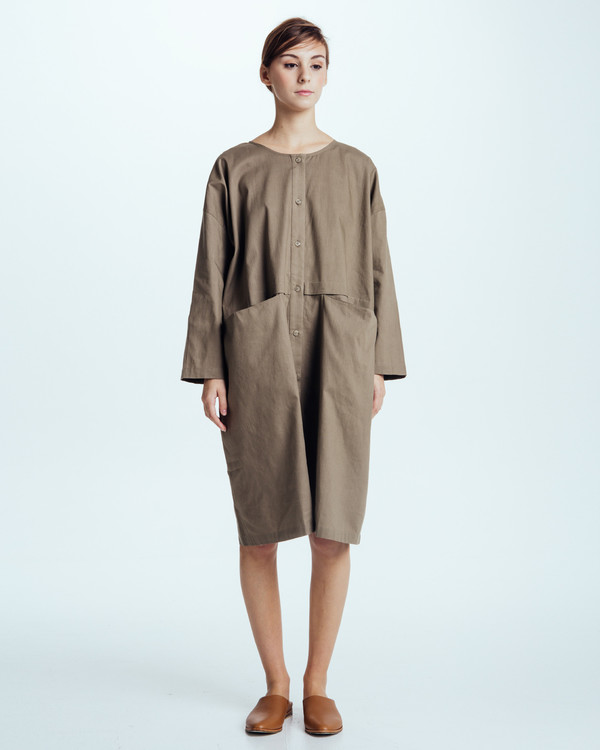 Revisited Matters Raincoat Dress in Forest