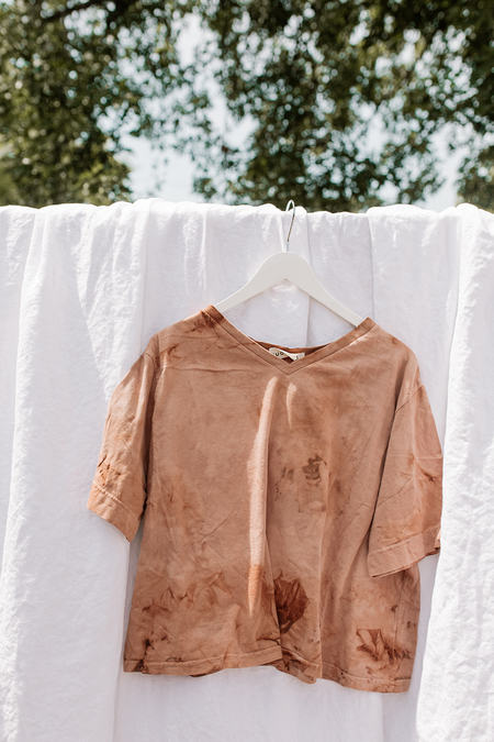 Wol Hide Easy Cropped Tee - Raw Sienna
