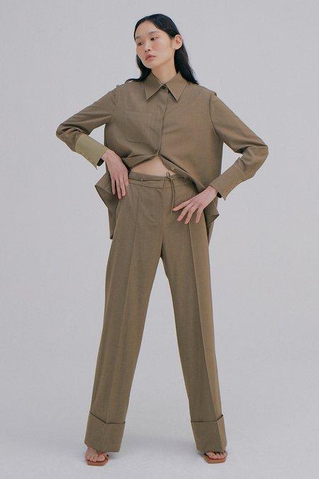 WNDERKAMMER Roll-Up Belt Trousers