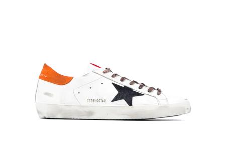 Golden Goose Superstar Sneakers - White / Orange Heel