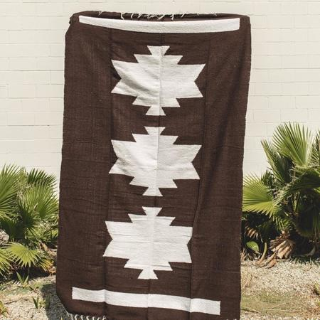 Petra De Luna Palenque Blanket - Brown