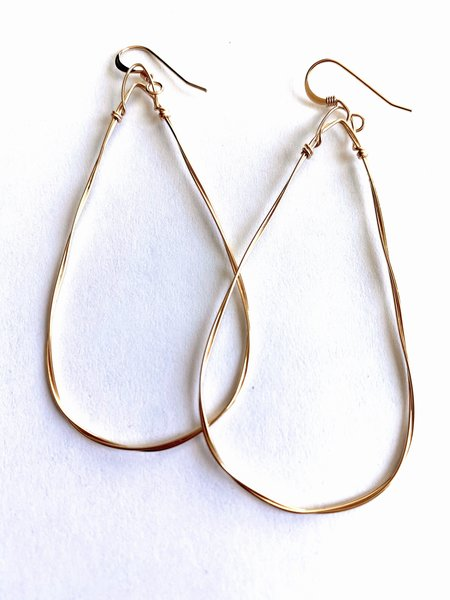 Emma Rose Small Triangle Hoops - 14K Gold Filled Wire