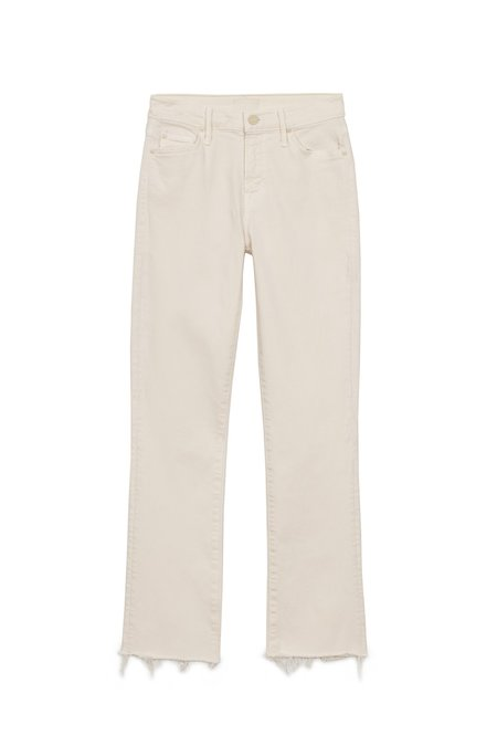 Mother The Rascal Crop Fray Jeans - Cream Puffs