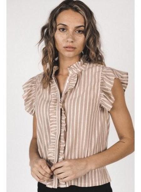 Trovata Paige Blouse - Shell Stripe